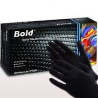 Bold Nitrile Free Black Examination Gloves