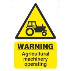 Caution Machinery Sign