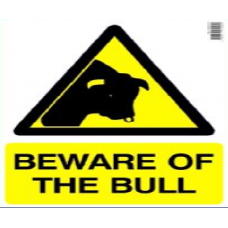Danger Beware of Bull Sign