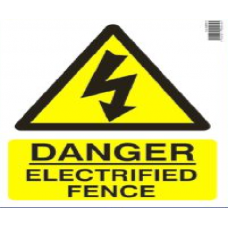 Danger Electrified Fence Sign